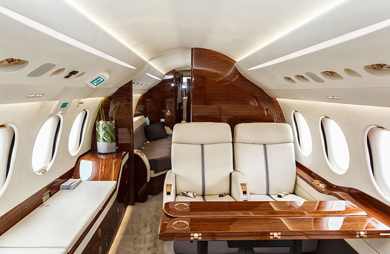 Private Jet Interior