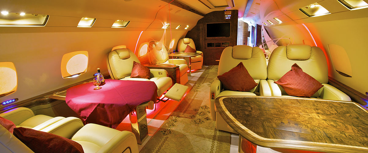 VIP Private Jet Charter - Interior Cabin