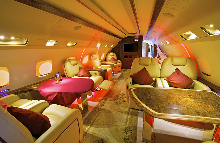 VIP Private Jet Charter - Interior Cabin
