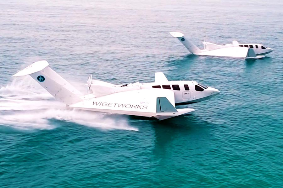 Two Airfish 8 Planes on Water - Photo Courtesy of Wigetworks Pte Ltd.