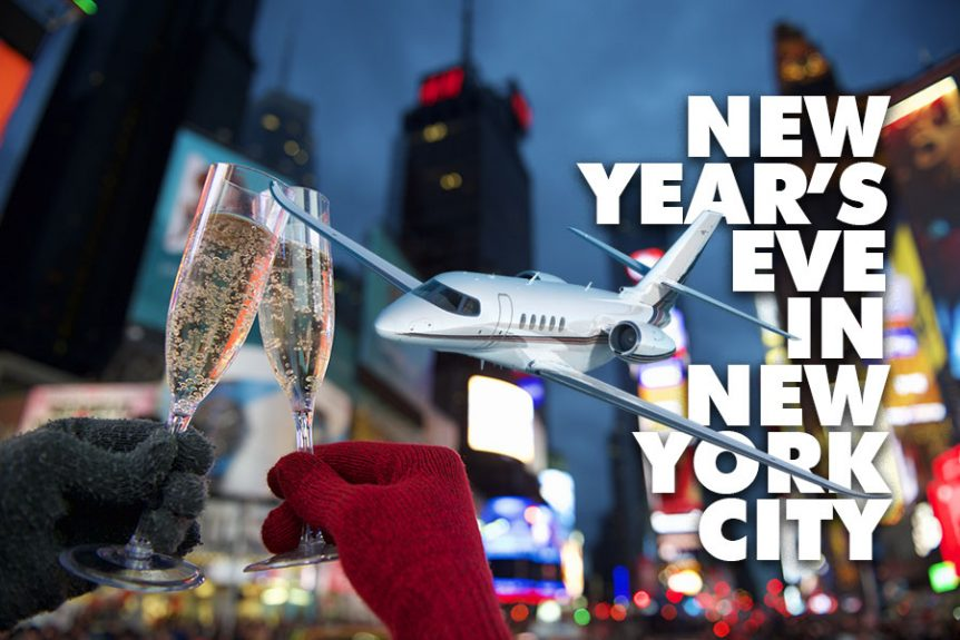 Private Jet Charter to New Year's Eve in Times Square 2019