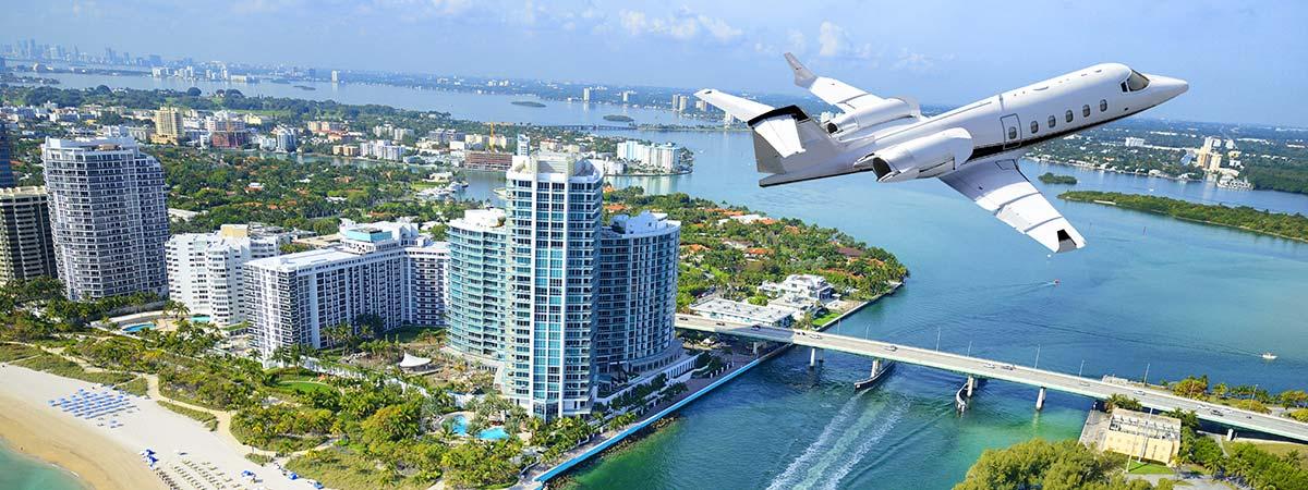 Private Jet to Miami Florida