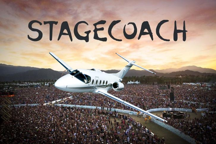 Private Jet Charter to the 2019 Stagecoach Music Festival