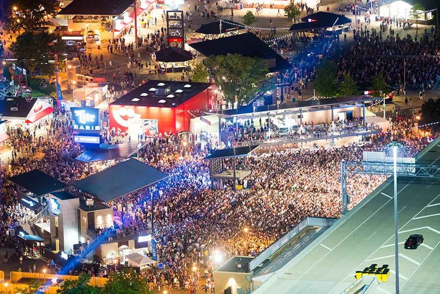 Aerial View of The Miller Lite Oasis at Summerfest