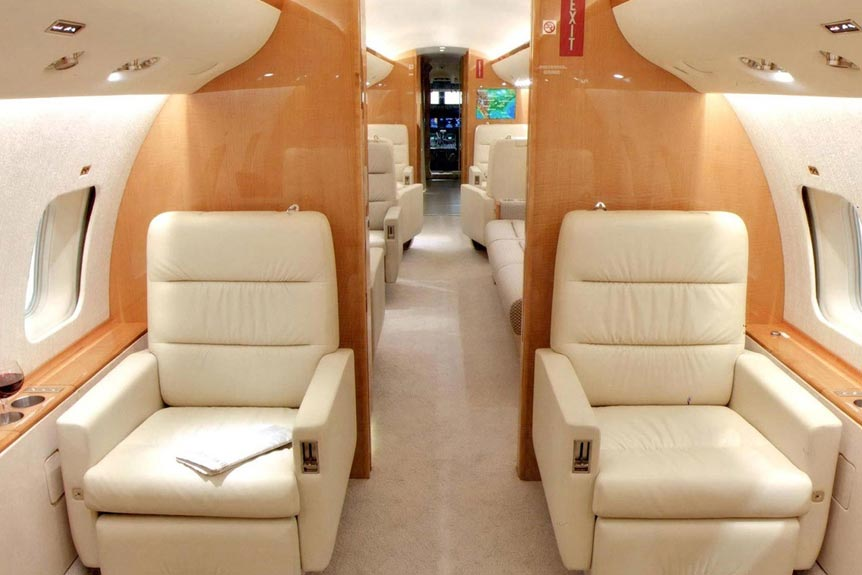 The Stunning Interior of the Bombardier Global Express